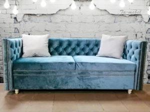 диван с пуговицами